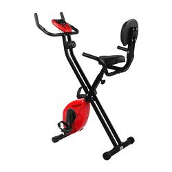 Finether Folding Magnetic Upright Exercise Bike Adjustable Fitness Equipment Work Out Machine wi ...