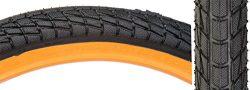 Sunlite Freestyle BMX Kontact Tires, 20″ x 1.95″, Black/Orange
