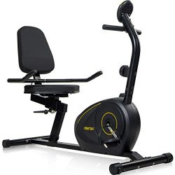 Merax RB1020 Magnetic Recumbent Bike Exercise Bike Fitness Stationary Bicycle (Black with Yellow)