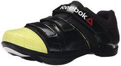 Reebok Men's Attack U Cycling Shoe, Black/High VIS Green/White, 6.5 M US