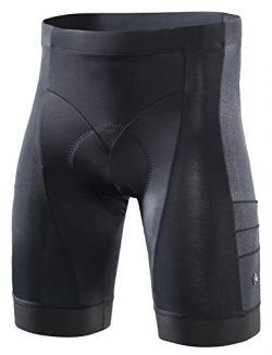 RION CYCLING Men's Bike Shorts Padded Tights Bicycle Pants (Steed-C8, L)