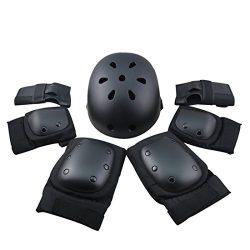 7Pcs Adult Sports Safety Protective Gear Set, RuiyiF Elbow Pad Knee Support Wrist Guard and Helm ...