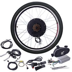 JAXPETY 48V 1000W Electric Bicycle Cycle E Bike 26″ Rear Wheel Ebike Hub Motor Conversion  ...