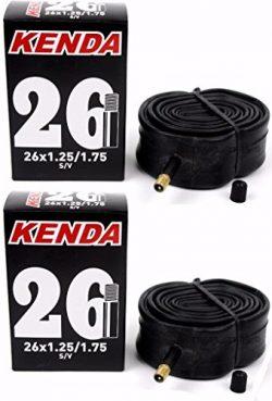 2 Pack Kenda 26″ 26×1.25/1.50/1.75 Schrader Valve MTB Hybrid Bicycle Inner Tubes