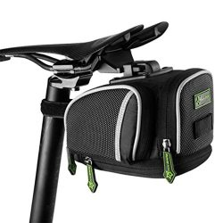 RockBros Road Mountain Bike Saddle Bag Under Seat Post Bag Fixed Gear Fixie (Black)