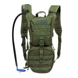 Tactical Hydration Pack Backpack 900D with 3L Water Bladder Reservoir for Men Women Hiking Cycli ...
