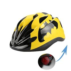 Atphfety Kids Bike Cycling Helmets Warning Tail Light Protective Gear for Toddler Child Children ...
