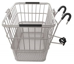 Mesh Bottom Lift-Off Basket w/ Bracket, Silver