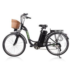 NAKTO/SPARK City Electric Bicycle Ebike with 36V 10Ah Lithium Battery for Women (Black)