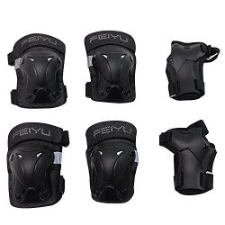 VINQLIQ Durable Children Kids Cycling Roller Skating Protective Gear Knee Elbow Wrist Support Pr ...