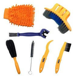 Anndason 7 Pieces Precision Bicycle Cleaning Brush Tool suitable for Mountain, Road, City, Hybri ...
