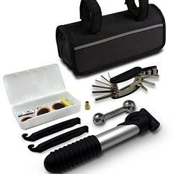 GoTravel2 Mini bike repair tool kit with pump – Mini bicycle repair tool kit with pump,16  ...