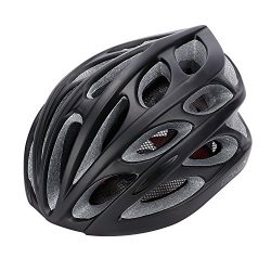 Gonex Adult Bike Helmet, Cycling Road Helmet with Safety Light, Adjustable 58-62cm, 24 Integrate ...