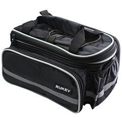 Bike Rear Seat Waterproof bag Multi Function Excursion Bicycle Cycling Bag Carrying Luggage Pack ...
