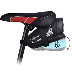 TOPTREK Bike Saddle Bag Outdoor Water Resistant Bike Bags under Seat with Expandable Capacity an ...