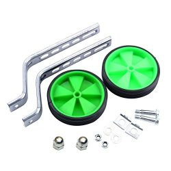 Homeme Mehome Bicycle Training Wheels (12 to 20-Inch Wheels) (Green)