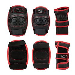 Kids Children Knee Pads/Elbow Pads with Wrist Guards Protective Gear Set for Multi Sports Skateb ...