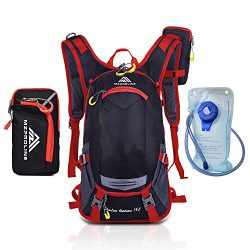 Hydration Backpack – 2-Liter Bladder with Large Valve Opening – Perfect for Hiking,  ...
