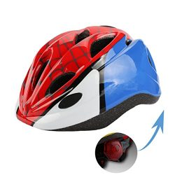 Kids Bike Cycling Helmets Warning Tail Light Protective Gear for Toddler Child Children,Multi-Sp ...