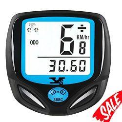 Bike Speedometer Waterproof Wireless Bicycle Bike Computer and Odometer with Automatic Wake-up M ...
