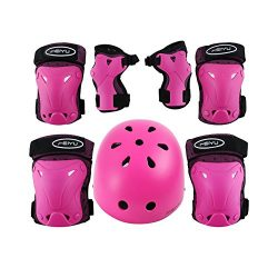 Weanas Kids Youth Adjustable Sports Protective Gear Set, Safety Pad Safeguard (Helmet Knee Elbow ...