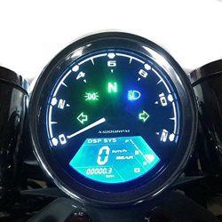 Samdo Universal DIY 12000 rpm LCD Digital Speedometer Odometer Tachometer 199 kmh for Honda Moto ...