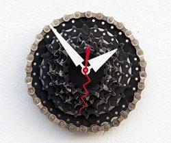 Recycled Bike Gear Clock, bike lover clock, upcycled bike gear clock, bike Birthday gift, indust ...