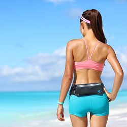 TIFTAF Athletic Running Belt Keep Your Cell Phone Money & Key Safe Have a Hands-Free Workout ...