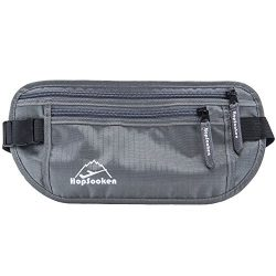 Hopsooken Travel Money Belt: Waist Pack for Running and Cycling, Rfid, Comfortable, Durable and  ...