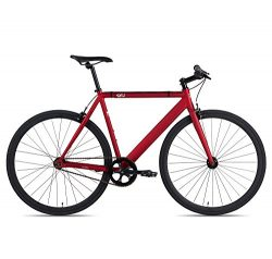 6KU Track Fixed Gear Bicycle, Burgundy/Black, 58cm
