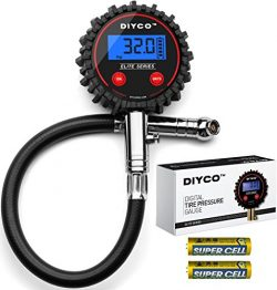 DIYCO Digital Tire pressure gauge | For Cars Motorcycle Rv Suv Truck TPMS Bike | 150 PSI with He ...
