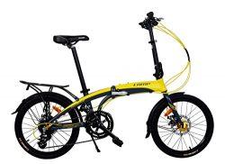K7S Camp 20″ Alloy 16 Speed Folding Bike Disc Brake Thunderbolt (Yellow)