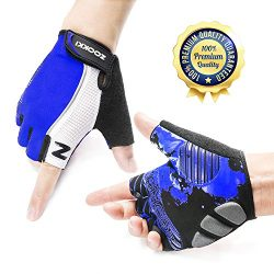 ZOOKKI Cycling Gloves Mountain Bike Gloves Road Racing Bicycle Gloves Light Silicone Gel Pad Rid ...