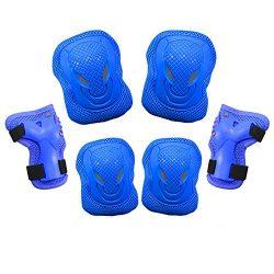 Dostar Kid's Adjustable Sports Safety Protective Gear Set – Children Knee Pads Elbow ...