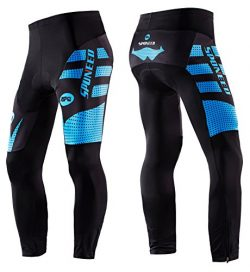 sponeed Mens Cycling Pants Bike Gear Padded Bicycle Riding Bottoms Leggings Long Cycle Tights As ...