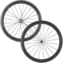 Superteam Carbon Fiber Road Bike Wheels 700C Clincher Wheelset 50mm Matte 23 width (Transparent  ...