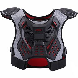 ZZ Lighting Kids Chest Protector Body Armor Vest Protective Gear for Dirt Bike Snowboarding Moto ...