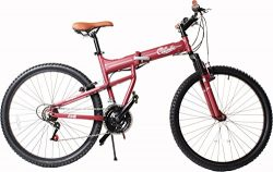 Columbia Bicycles Compax 26″ Men's 21-Speed Folding Mountain Bike, 18″/One Size