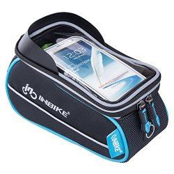 INBIKE Bike Phone Bag, Waterproof Top Tube Bicycle Bag Touch Screen Grey 5.7″