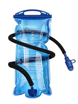 MIRACOL Hydration Bladder 2 Liter 70 oz BPA Free Water Reservoir – Leak Proof Hydration Pa ...