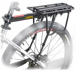 Bike Cargo Rack, Rear Carrier Seat Load 110 lbs Adjustable Bicycle Frames Cycling Mountain Bag S ...