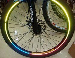 Green/blue/orange 2 Pcs/pack Bike Wheel Flash Reflective Strips Road Bicycle Sticker Mountain Bi ...