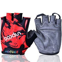 MIFULGOO BDHGF-H Boy Girl Child Children Kid Half Finger Fingerless Short Gloves for Cycling Ska ...