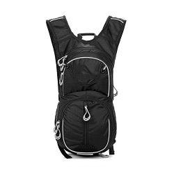 Mountain Bike Cycling Backpack Waterproof for Men Women Lightweight Helmet Hydration Pack 12L (B ...