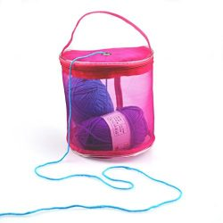 Cinhent Home 1PC New Mesh Bag Lightweight Portable Yarn Crochet Thread Storage Box Organizer Tot ...