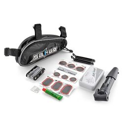 Flexzion Bicycle Tire Repair Tools Set Bike Cycling Multifunction Cycle Maintenance Complete Kit ...