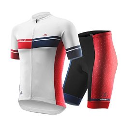 INBIKE Men's Summer Breathable Cycling Jersey and 3D Silicone Padded Shorts Set Outfit