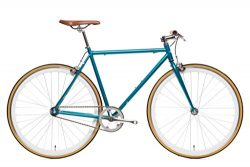 State Bicycle Beorn Blue Fixie Single Speed/Fixed Gear Bike, Matte Teal, 50cm/Small
