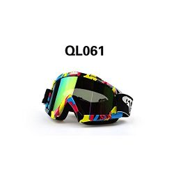 Eachbid Off Road Riding Motorcycle Bike Dirt Goggles Windproof Durable Delicate Useful Ql061-Color