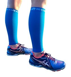 BeVisible Sports Calf Compression Sleeve Footless Leg Compression Socks for Men & Women Use  ...